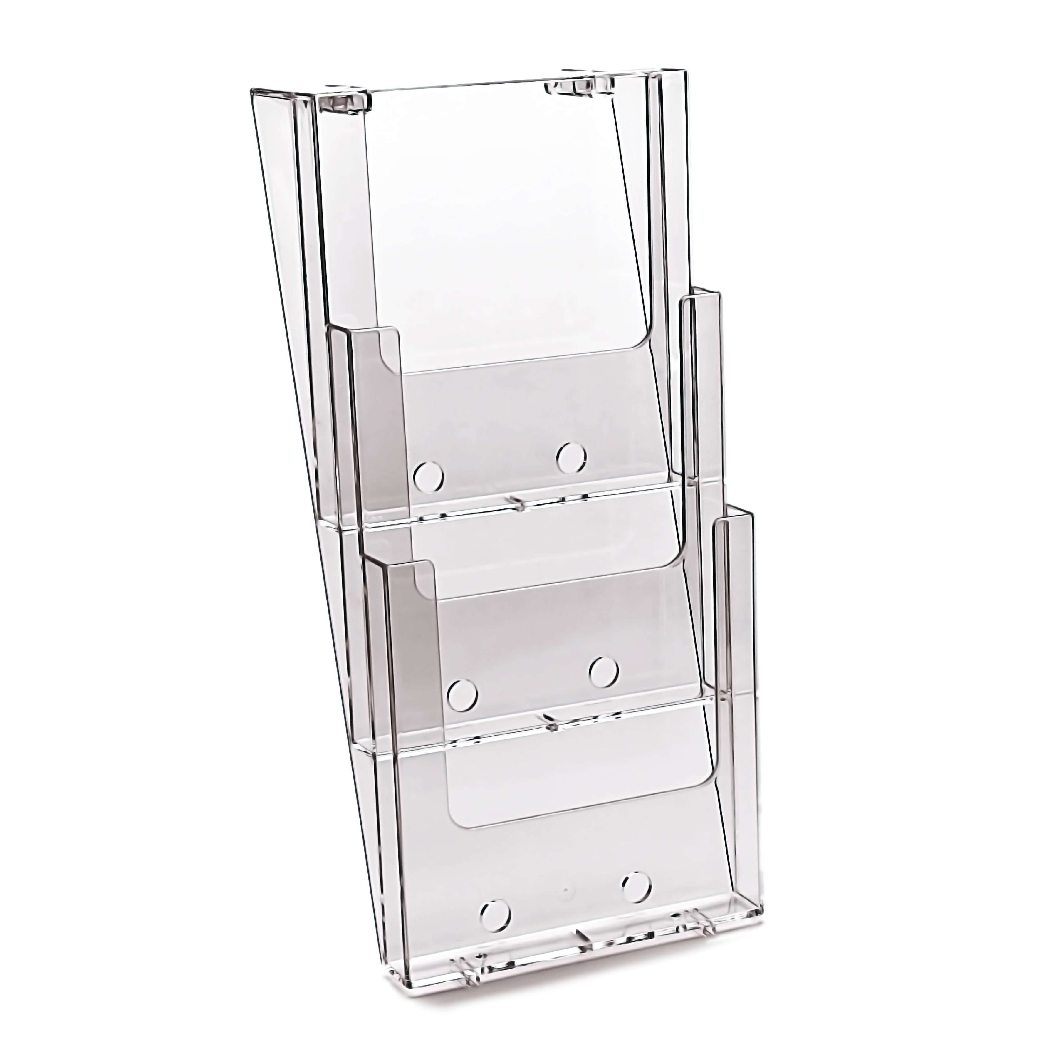 table mount awesome beautiful plastic wall ideas top mounted racks brochure holder of rack
