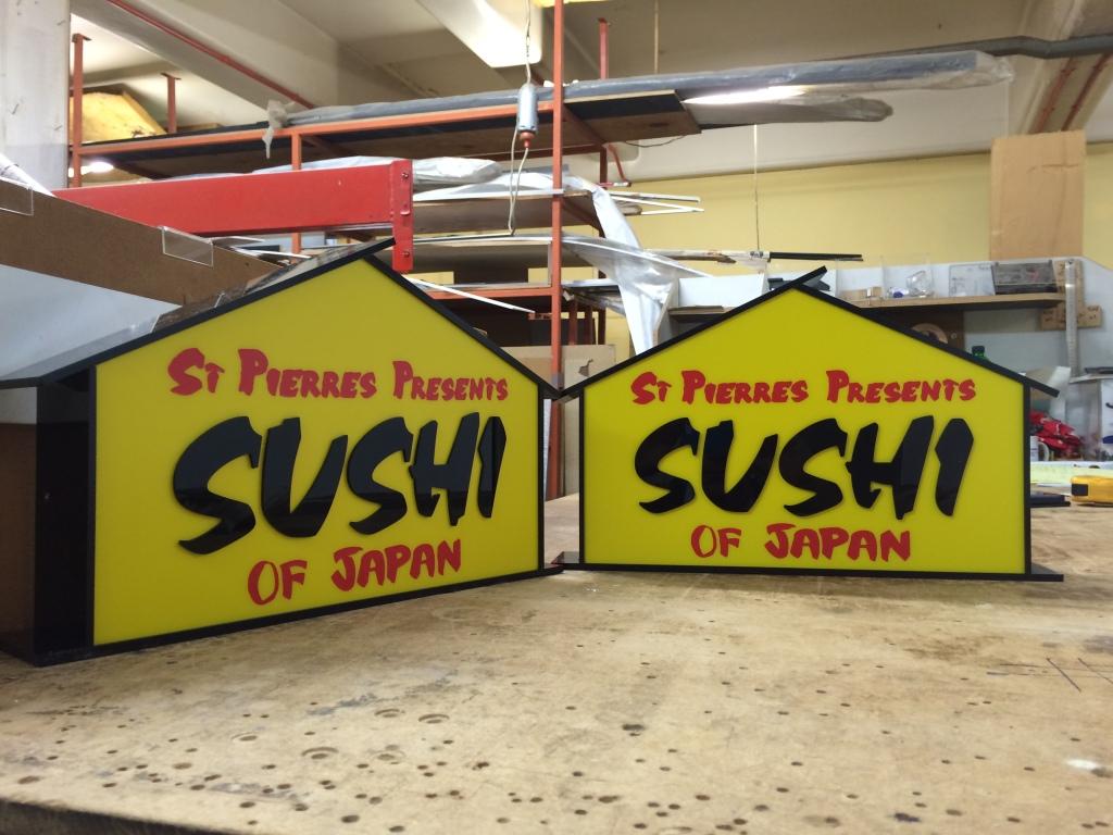 Acrylic Sushi Huts