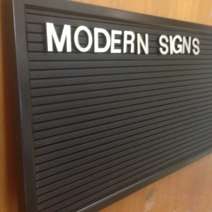 Interchangeable Letter Board