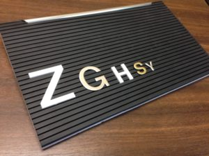 Interchangeable Letters and Boards